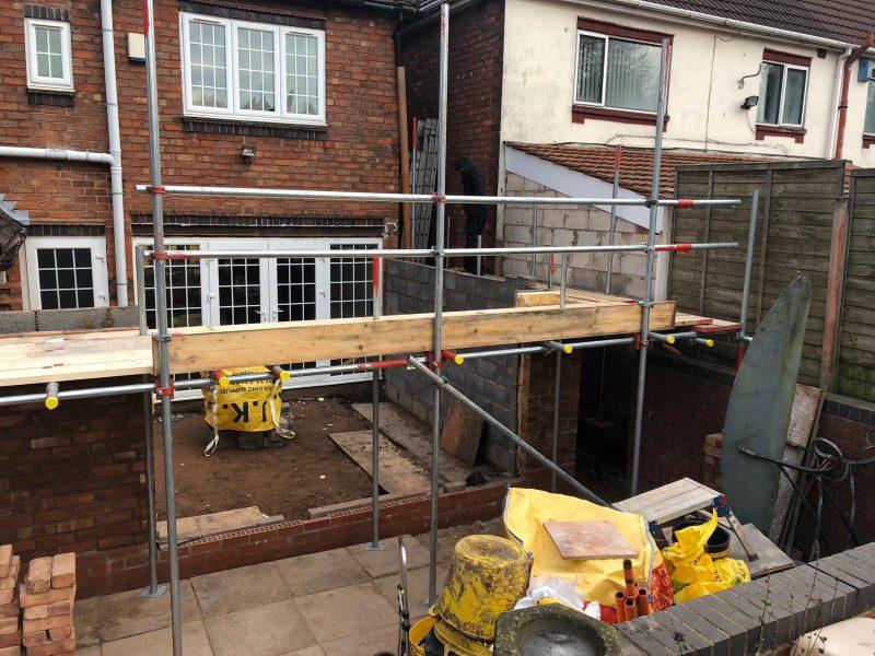 AJD domestic garden scaffolding