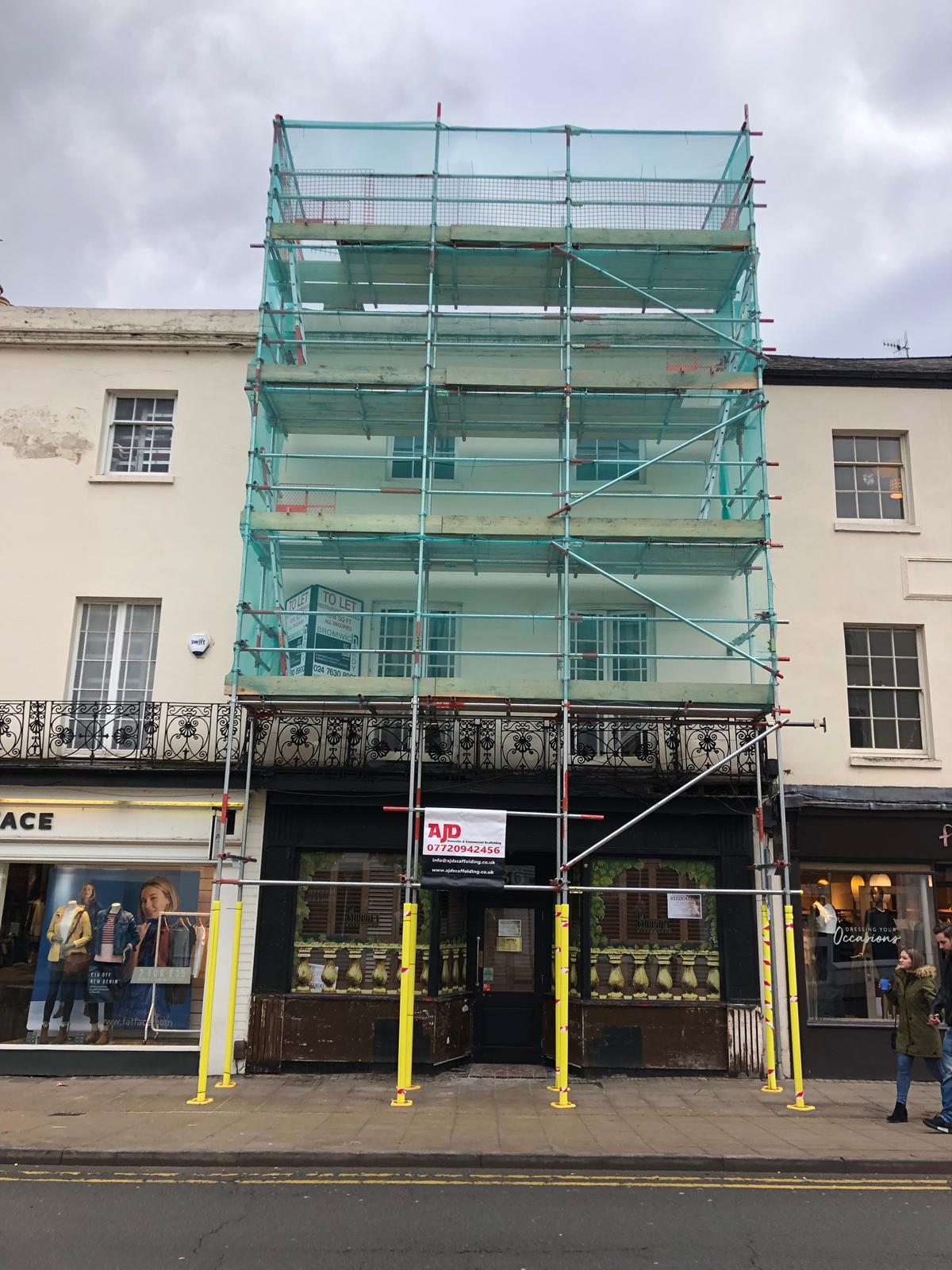 shop front scaffolding